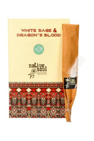 Native Soul wierook White Sage & Dragons Blood (Witte Salie & Drakenbloed)