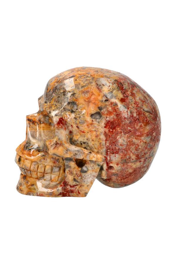 Crazy Lace realistische kristallen schedel, 13.5 cm, 1.8 kg