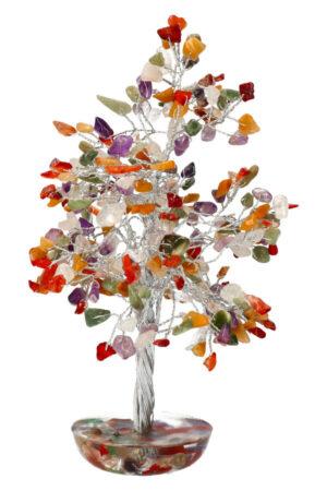 Kleurige multi steen edelsteenboom 20 cm