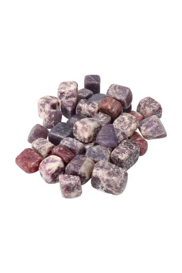 Lepidoliet trommelsteen stenen