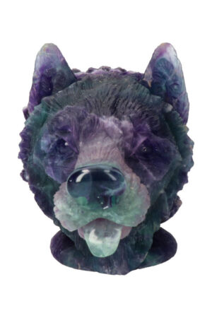 Fluoriet edelsteen wolf