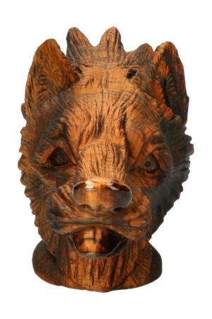 Tijgeroog edelsteen wolf