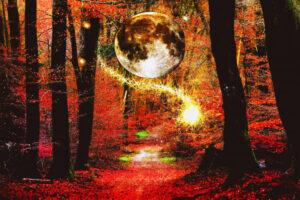Volle maan in stier Samhain