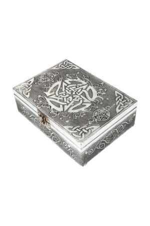 Green Tree Keltisch Pentagram kistje van Aluminium 18 cm