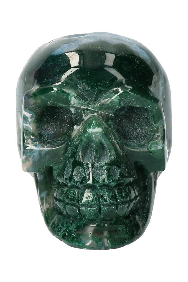 Mosagaat kristallen schedel, 9,8 cm, 615 gram