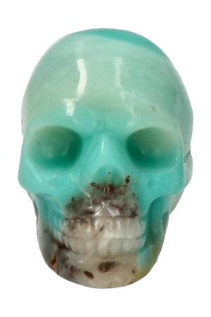 Amazoniet kristallen schedel