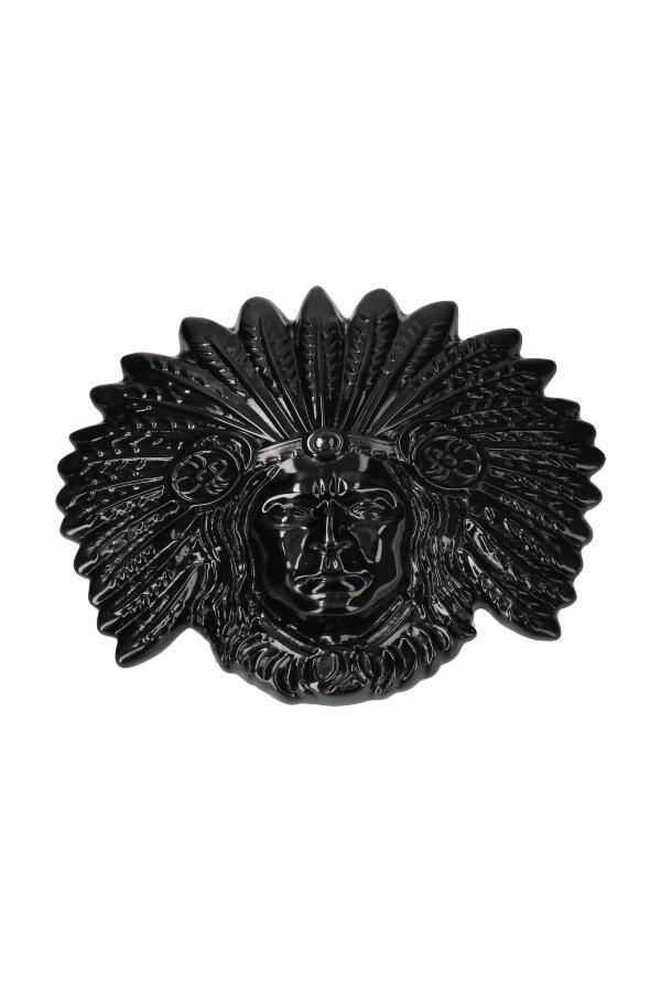 Maya Obsidiaan gezicht, 14 cm, 500 gram
