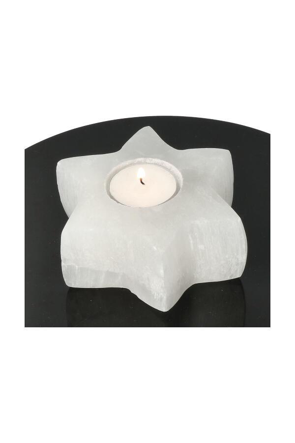 Seleniet ster vorm theelicht, 10-12 cm, 600-800 gram