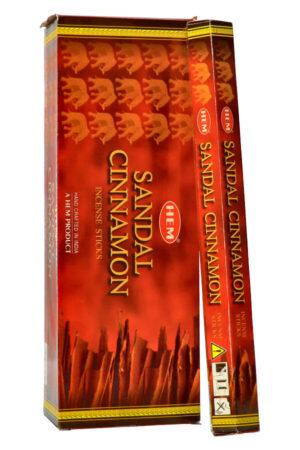 Sandal Cinnamon (Sandelhout Kaneel) wierook, HEM