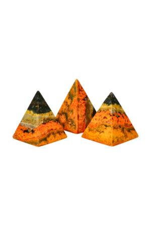 Bumblebee Jaspis Piramide 6-7 cm hoog en 5 cm breed