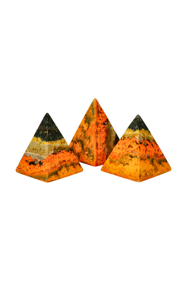 Bumblebee Jaspis Piramide, 6-7 cm hoog