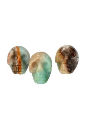 Amazoniet kristallen schedel 2.5 cm