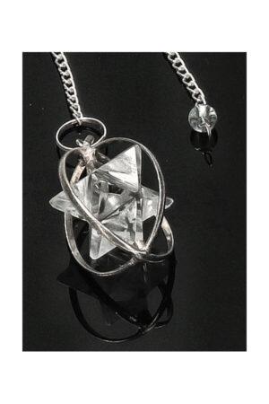 Bergkristal Merkaba pendel