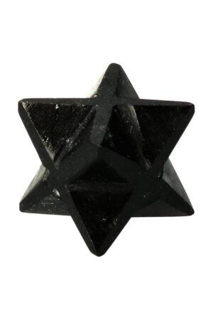 Zwarte Toermalijn Merkaba Ster