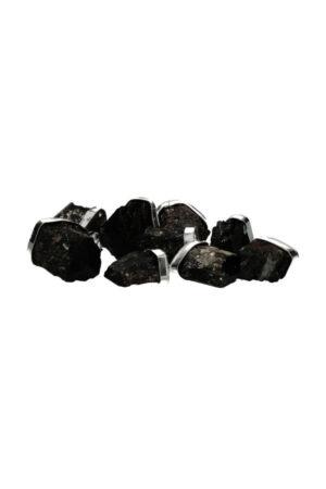 Zwarte Toermalijn ruwe hanger