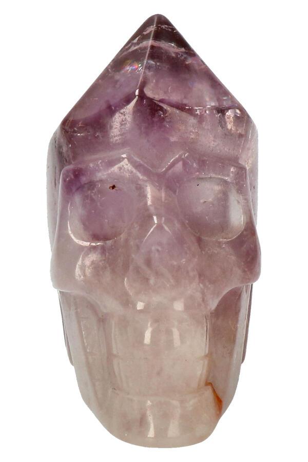 Amethist punt kristallen schedel, 7,5 cm, 278 gram