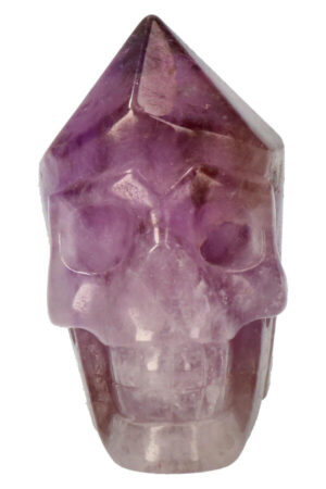 Amethist punt kristallen schedel, 7,8 cm, 335 gram