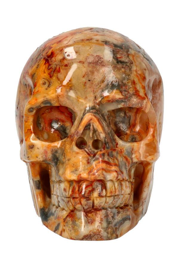 Crazy Lace realistische kristallen schedel, 12.1 cm, 1.42 kg