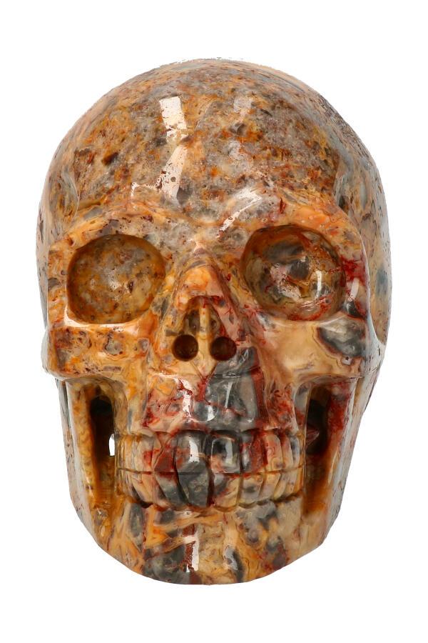 Crazy Lace realistische kristallen schedel, 12.3 cm, 1.25 kg