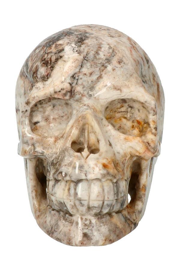 Crazy Lace realistische kristallen schedel, 13.1 cm, 1.44 kg
