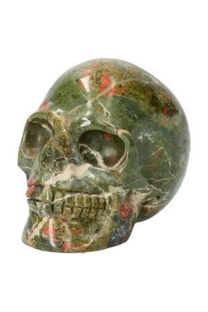Unakiet met Bergkristal realistische kristallen schedel