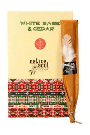 Native Soul wierook White Sage & Cedar (Witte Salie en Cederhout)