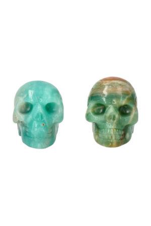 Amazoniet kristallen schedel, 5 cm.