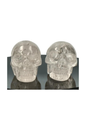 Opaliet kristallen schedel, 5 cm