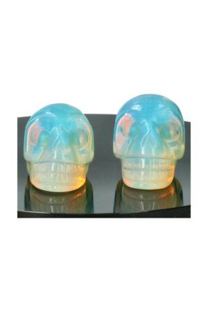 Opaliet kristallen schedel, 4 cm