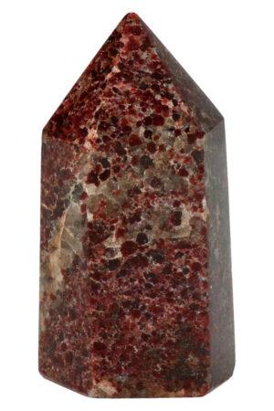 Granaat punt edelsteen gepolijst