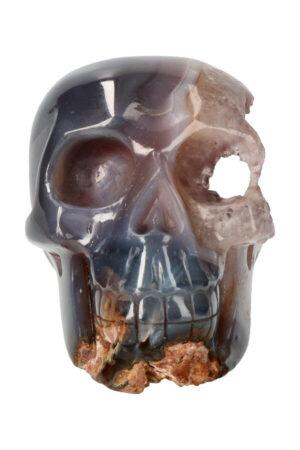 Agaat Geode kristallen schedel, 14.5 cm, 1.47 kg