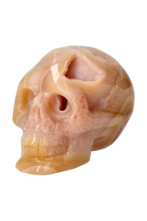 Gele Agaat geode kristallen schedel