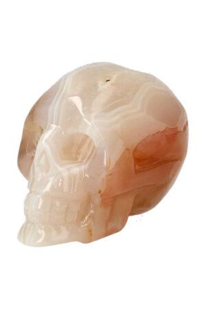 Agaat geode kristallen schedel, 7.5 cm, 230 gram