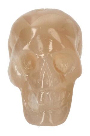 Gele Agaat geode kristallen schedel, 7.5 cm, 224 gram