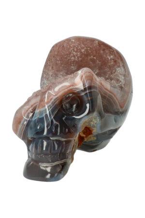 Agaat geode kristallen schedel, 7 cm, 145 gram