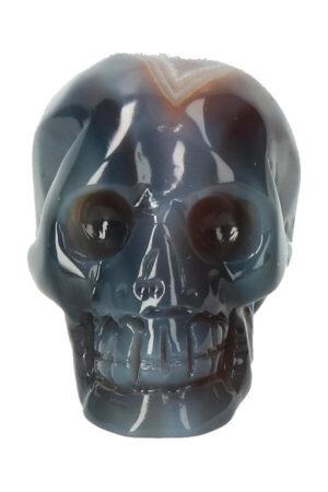 Agaat geode kristallen schedel, 7 cm, 206 gram