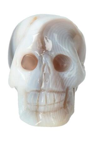 Agaat geode kristallen schedel, 7.5 cm, 240 gram