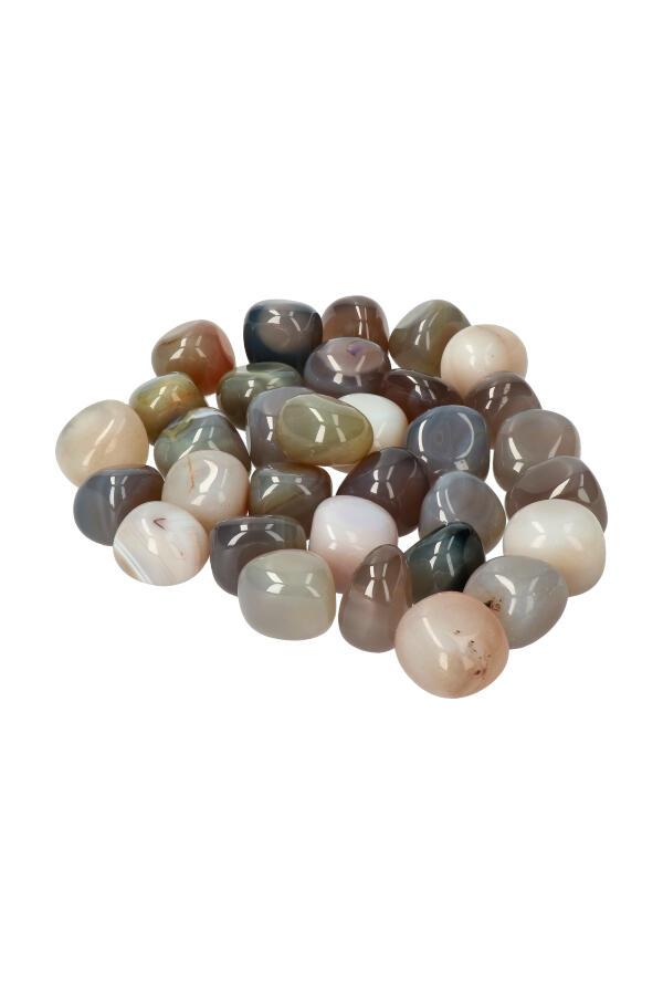 Agaat trommelstenen, 1 steen of per zak van 100 gram tot 1 kilo, 2.5 tot 3.5 cm, Indonesië