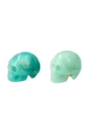 Amazoniet kristallen schedel 4 cm