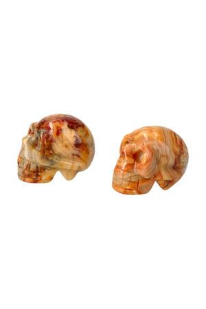 Crazy Lace kristallen schedel, 4 cm