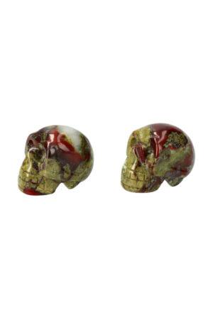 Drakenbloedsteen kristallen schedel, 4 cm