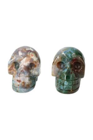 India Agaat kristallen schedel 4 cm