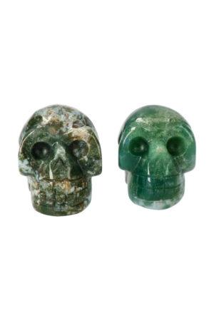 Mosagaat kristallen schedel, 4 cm