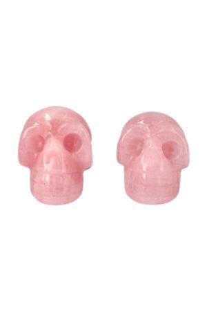 Rozenkwarts kristallen schedel, 4 cm
