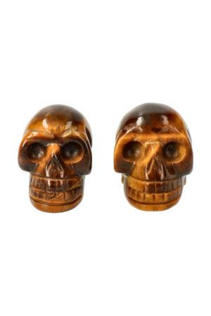 Tijgeroog kristallen schedel 4 cm