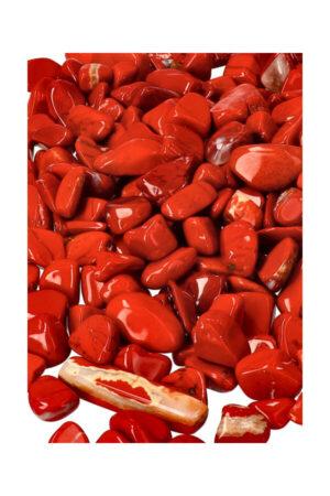 Rode Jaspis chips (kleine steentjes), zak van 100 gram tot 1 kilo, 0.6 tot 1.5 cm