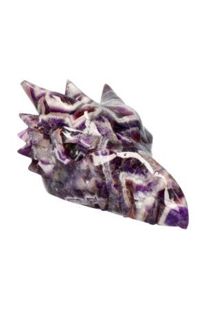 Amethist kristallen drakenschedel