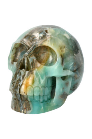 Amazoniet relalistische kristallen schedel