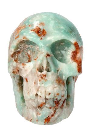 Amazoniet met Marcasiet realistische kristallen schedel