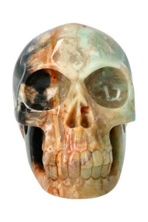 Amazoniet met Zwarte Toermalijn realistische kristallen schedel